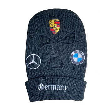 """""""GERMANY"""" Embroidered Ski Mask (VARIOUS COLORS)"""