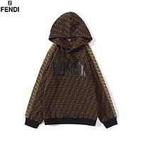 FENDI FF Fashion Hooded Top Pullover Sweatshirt Hoodie
