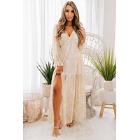 Must Be Fate Maxi Dress (Light Yellow/Multi)