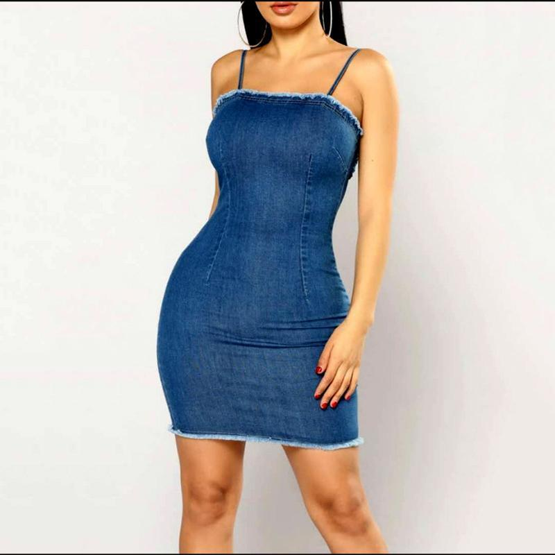 Image of FITTED & FAB DENIM DRESS