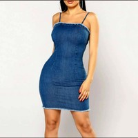 FITTED & FAB DENIM DRESS