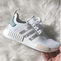 adidas nmd individuality sequins fashion trending women leisure running sports shoes-5