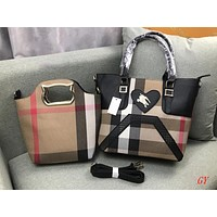Burberry Women Fashion Crossbody Shoulder Bag Satchel Handbag Tote Set Two Piece