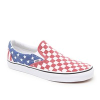 Vans Classic Slip-On Shoes - Mens Shoes - Red/White/Blue
