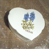 Texas Flower Blue Bonnets Trinket Box