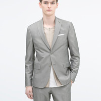 TWO-TONE GREY WEAVE BLAZER Two-tone grey weave suit: 1 of 3