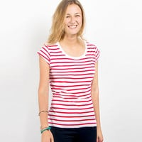 Causal Striped T-Shirt