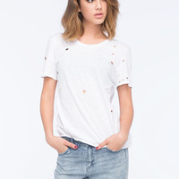 Volcom Cowl Me Womens Tee White  In Sizes