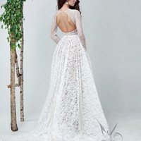 Lace wedding dress ALYTA, wedding dress,  wedding dress lace, lace wedding dresses, long sleeve wedding dress, long sleeved wedding dress