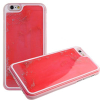 PINK GLOW IN THE DARK GLITTER WATERFALL CASE