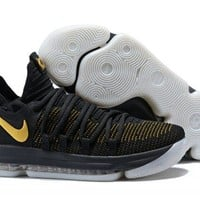 Nike KD 10 Black Yellow For Sale