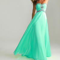 Custom Made Elegant Strapless Chiffon Prom Dress,Chiffon Evening Dress,Chiffon Formal Dress