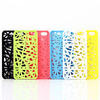 New Style Hollow Bird's Nest Plastic Hard Back Case Cover For Apple iPhone 5C