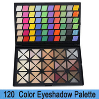 Free Shipping 2-Layer 120 Full Color Eye Shadow Makeup Set  Cosmetic Eyeshadow Palette Cosplay Make Up
