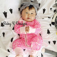 Baby Girl BOW Headband Gray Newborn Head Wrap| Grey Cotton Headband Top Knot Bow. Infant Toddler Girl Turban Headwrap MORE COLORS Pink White