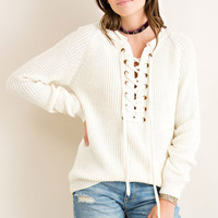 Let Your Hair Down Sweater- Cream