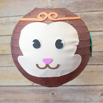 "8"" Paper Lantern Animal Face DIY Kit - Monkey (Kid Craft Project) Chinese New Year"
