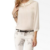 Beaded Collar A-Line Top   FOREVER 21 - 2043411835