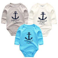 3pcs/lot Summer Baby Bodysuits tiny cottons 2018 Body Baby Girl clothes roupas Long Sleeve Infant Overalls Bodies suits newborn