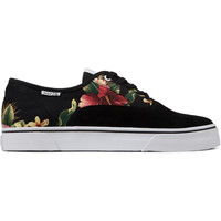 HUF Black Floral Suede Canvas Mateo Shoes   HYPEBEAST Store. Shop Online for Men's Fashion, Streetwear, Sneakers, Accessories