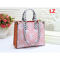 LV Fashion Hot Selling Ladies'Printed and Coloured Shopping Bag Pink