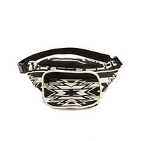 Tribal Print Canvas Fanny Pack: Charlotte Russe