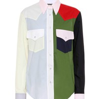 Colour Block Western cotton shirt
