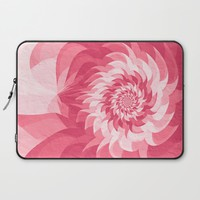 Surreal pink flower Laptop Sleeve by Natalia Bykova