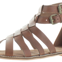 Naughty Monkey Cilani Women's Leather Woven Gladiator Sandal