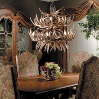 """The Allegheny"" Antler Chandelier -- Free Shipping"
