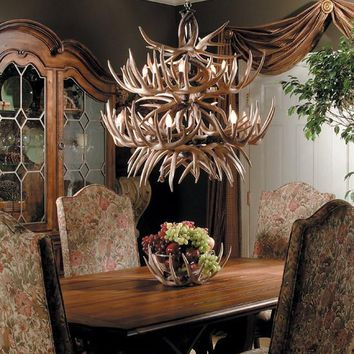 """""""The Allegheny"""" Antler Chandelier -- Free Shipping"""