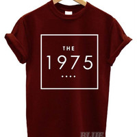 the 1975 available in WHITE BLACK BURGUNDY ! shirt Tshirt Tee Tumblr blanc unisexe tee shirt tumblr graphic size S M L