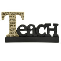 Decorative Inspirational Resin Hanging Word Sign (Teach)