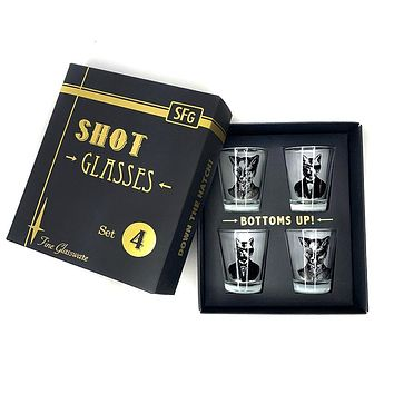 Shot Glasses Set of 4 Animal Menagerie