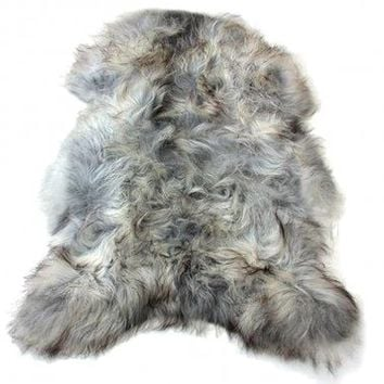 NEW! Grey Icelandic Sheepskin Rug