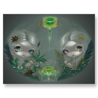 """""""Absinthe:  Anise and Artemisia"""" Postcard from Zazzle.com"""