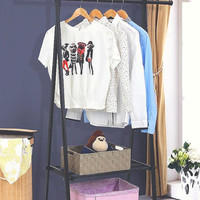 Black Metal Tower Clothing Rack
