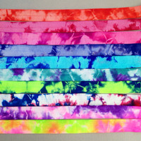 "10 Yards of 5/8"" Tie Dye Fold Over Elastic - FOE Elastic - 1 Yard of Each Color"