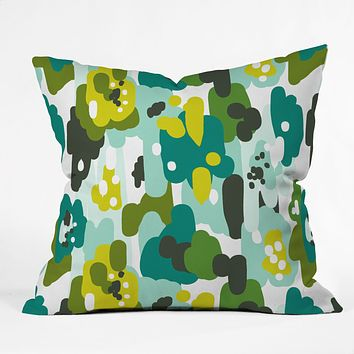 Heather Dutton Painted Camo Outdoor Throw Pillow