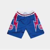 Mitchell & Ness 1978-79 Detroit Pistons Road Authentic Shorts
