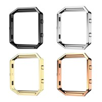 Polished Stainless Steel Metal Frame Holder Shell For Fitbit Blaze Smart Watch Free Shipping