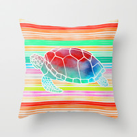 Turtle  by Jacqueline Maldonado & Garima Dhawan Throw Pillow by Garima Dhawan