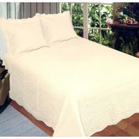 Harmonious Mist Ivory Queen Quilt Set By American Hometex