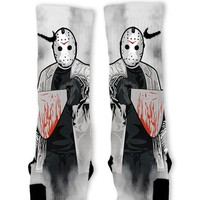 Jason Halloween Custom Nike Elite Socks