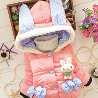 New Children Coat Baby Girls winter Coats long-sleeved coat girl's warm Baby jacket Winter Outerwear Thick Kids Hooded = 1930017796