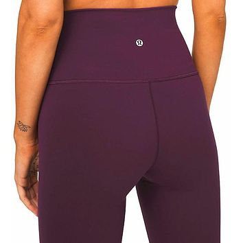 Lulu Lemon Women Fashion Sport Trouser Yoga Pants Girls Legging high elasticity