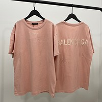 Balenciaga Fashion Casual Letter Embroidery T-Shirt