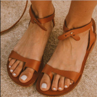 Hot style women's hot selling flat toe sandals