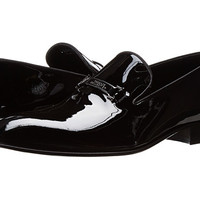 Versace Collection Patent Leather Moccasin with Bit