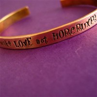 Make Love Not Horcruxes Cuff - Spiffing Jewelry